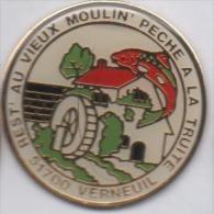 Poisson , Péche à La Truite , Au Vieux Moulin , Verneuil , Marne - Animaux