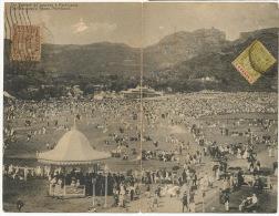 Double Fold Card Un Samedi De Courses A Port Louis No 88 Guillemin 1920 To Cuba  - Mauricio