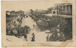 Mauritius Volunteer Force 23 Route March : La Musique Et L Artillerie Curepipe Guerre 14 WWI Michelin - Maurice