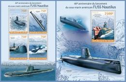 nig14117ab Niger 2014 USS Nautilus Submarines 2 s/s