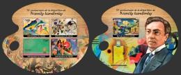 nig14124ab Niger 2014 Painting Wassily Kandinsky 2 s/s