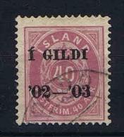 Iceland 1902 Mi Nr 32 A Yv Nr 31 B   Used Perfo 14 : 13,5 - 1873-1918 Deense Afhankelijkheid