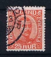 Iceland 1921 Mi Nr 102 Yv Nr 108  Used - 1918-1944 Autonoom Bestuur
