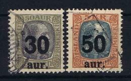 Iceland 1925 Mi Nr 112-113 Yv Nr 113-114  Used - 1918-1944 Autonoom Bestuur