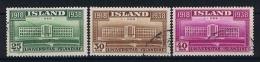 Iceland 1938 Mi Nr 200-202 Yv Nr 168-170  Used - 1918-1944 Autonoom Bestuur