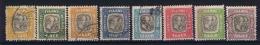 Iceland  1907-08  Mi Nr 24 - 31 , Yv Nr  24  31  Used  Service - Dienstzegels
