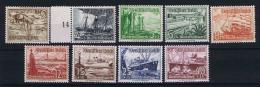Germany 1937 Mi. Nr. 651-659 , Yv  594-602 , MNH/** , The 3 C = MH/* - Deutschland
