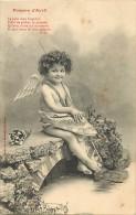 Themes Div - Ref H 421-  Anges - Ange - Poisson D Avril - Enfant - Enfants -  Carte Bon Etat - - Bergeret