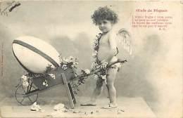 Themes Div - Ref H 420-  Anges - Ange - Oeufs De Paques  - Enfant - Enfants - Brouette - Brouettes - Carte Bon Etat - - Bergeret