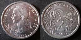 COMORES  2 Francs 1964 UNC / SUP  COMOROS   PORT OFFERT - Comoren