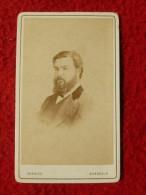 CDV HOMME BARBU PHOTO CHARLES A BORDEAUX - Anciennes (Av. 1900)