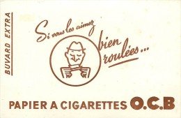 Ref  243- Buvard -tabac - Papier A Cigarettes Ocb - Buvard Bon Etat  - - Tobacco