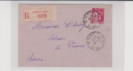1934 - SEINE - ENVELOPPE RECOMMANDÉE De SAINT DENIS - Postmark Collection (Covers)