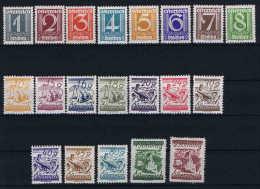 Österreich 1925  Mi 447 - 467 Minus 465 (50G), MH.* - Ungebraucht