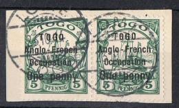 TOGO  Obl  33  Sur Fragment  TB - Togo (1914-1960)