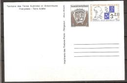 Terres Australes Entier Postal 1-CP ** Côte 4.50 € - Ganzsachen