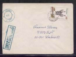 POLAND 1982 LETTER LASOWICE TO KRAKOW OCENZUROWANO CENSORED GREEN CACHETS CENSOR STATION 371 - 1944-.... República