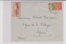 1937 - ENVELOPPE RECOMMANDÉE De BORDEAUX - 1921-1960: Période Moderne
