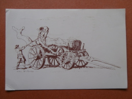 35297 PC: Shire Postcards 'Old Carts And Wagons' No. 2. Loading A Timber Wagon. From 'Microcosm' By William Henry Pyne, - Museum