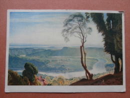 35299 PC: MUSEUM: Birmingham City Museum & Art Gallery. THE VIEW FROM THE WYNDCLIFF (Oil)  C. M. Gere, R.W.S. - Museum