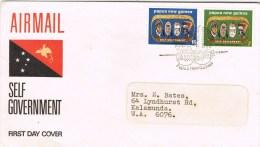 9642. Carta Aerea F.D.C. Papua Y Nueva Guinea 1973 - Papouasie-Nouvelle-Guinée