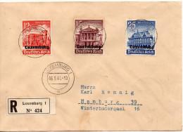 LUXEMBOURG OCCUPATION ALLEMANDE LETTRE RECOMMANDEE POUR L'ALLEMAGNE 1941 - 1940-1944 Deutsche Besatzung