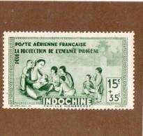 RARE  --  INDOCHINE  --  PROTECTION DE L'ENFANCE   --  ** 15 C. + 35  C. **  --  1942  --  NEUF SANS TRACE DE CHARNIERE - Unused Stamps