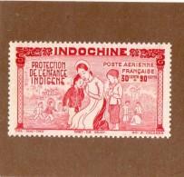 RARE  --  INDOCHINE  --  PROTECTION DE L'ENFANCE   --  **  30 C. + 90  C. **  --  1942  --  NEUF SANS TRACE DE CHARNIERE - Unused Stamps