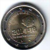 2 € BELGIO 2014 100° Inizio Prima Guerra Mondiale - Belgique