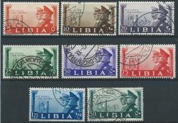 1941 LIBIA USATO FRATELLANZA D'ARMI CON POSTA AEREA - ED575 - Libya