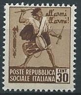 1944-45 RSI MONUMENTI DISTRUTTI 30 CENT MNH ** - ED580 - 4. 1944-45 Repubblica Sociale