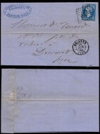 France 1864 Postal History Rare Cover + Content Brionne To Drucourt D.856 - Andere