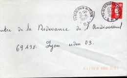 Cachet 71 SAINT SERVIN DU PLAIN SAONE ET LOIRE 27/6/1997 En GRIS Marianne De Briat - Marcophilie (Lettres)