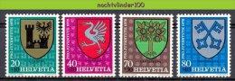 Mwv084 FAUNA VOGELS WAPENSCHILDEN SHIELDS OF ARMOR BIRDS VÖGEL AVES OISEAUX HELVETIA 1978 PF/MNH # - Postzegels