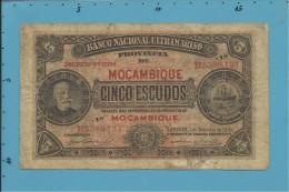 MOZAMBIQUE - 5 ESCUDOS - 01.09.1941 - P 83 - F. DE OLIVEIRA CHAMIÇO - Mozambique