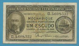 MOZAMBIQUE - 1$00 - 1 ESCUDO - 23.05.1944 - P 92 - ANTONIO ENNES - PORTUGAL - Moçambique