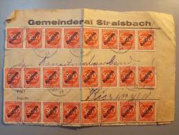 Brief DEUTSCHES REICH - Gemeinderat Stralsbach Bayern Nach BAD KISSINGEN - Dienstmarke - Germany