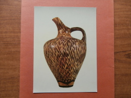 """35322 PC: MUSEUM: MUSEUM OF HERAKLEION. The """"Jug Of The Reeds"""" From Phaistos. Floral Style (16th C. B.C.) - Museum"""