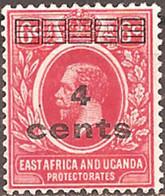 EAST AFRICA & UGANDA..1919..Michel # 59...MLH. - Kenya, Uganda & Tanganyika