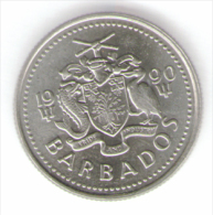BARBADOS 10 CENTS 1990 - Barbados