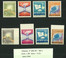 ALBANIA - 1964 Olympic Games - Tokyo, Japan - SERIE + FOGLIETTI DENTELLATI E NON DENTELLATI COLORI DIVERSI - Summer 1964: Tokyo