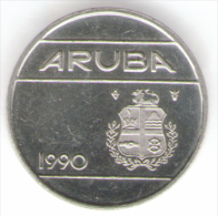 ARUBA 25 CENTS 1990 - Monete
