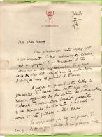 LETTRE MANUSCRITE 1937 A BORD DU S.S. LE NORMANDIE ENTETE ECUSSON FRENCH LINE - Manuscrits
