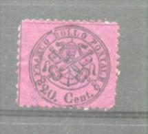 Italy Church State 1868 Coat Of Arms 20C Mi.23b MH AM.325 - Etats Pontificaux