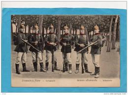 ARMEE ALLEMANDE-infanterie-gros Plan Groupe  De 6 Soldats-bien équipés -années 1900-10 - Uniformen