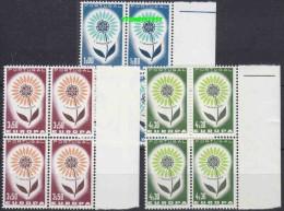 Europa Cept 1964 Portugal 3v Bl Of 4 ** Mnh (14091) - 1964