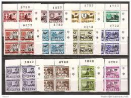 1978 Jersey SEGNATASSE  POSTAGE DUE (22/31) 4 Serie Di 12v. MNH** Quartina AF Bl.4 - Jersey