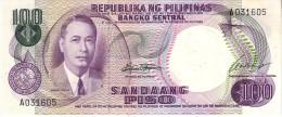 Philippines P.147a 100 Piso 1969  Unc - Filippine
