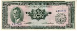 Philippines P.140  200 Piso 1949  Unc - Filippine