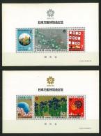 GIAPPONE - JAPAN - 1970 EXPO 70 World Fair, Osaka  - 2 FOGLIETTI IN FOLDERINO - Blocks & Sheetlets
